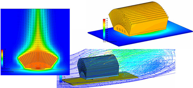 Angled Geometry Simulating angled geometry is not a problem with Mentor Graphics thermal design software.